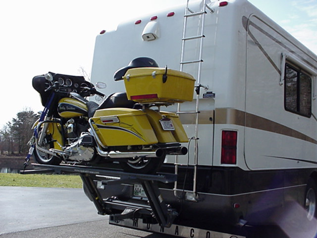 WORLDS BEST RV MOTORCYCLE LIFT BY HYDRALIFT.DRIVE-ON DRIVE-OFF Used RV Parts