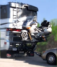 Used Rv Parts Worlds Best Rv Motorcycle Lift By Hydralift Drive On