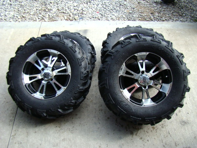 ITP TIRES AND WHEELS USED FOR SALE ( LIKE NEW ) FITS YAMAHA RHINO Used RV Parts