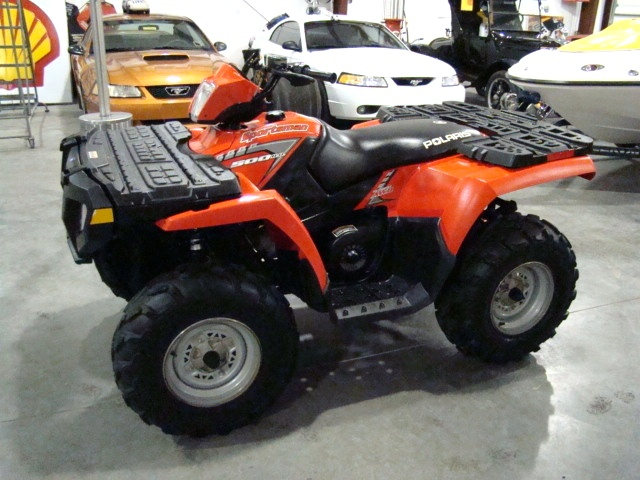 used rv parts 2005 polaris sportsman 500 ho atv 4 wheeler for sale atv utvs boats golf carts. Black Bedroom Furniture Sets. Home Design Ideas