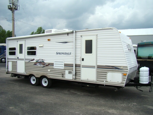 used rv parts 2007 keystone springdale 27ft 1 slide travel trailer for sale rvs campers. Black Bedroom Furniture Sets. Home Design Ideas