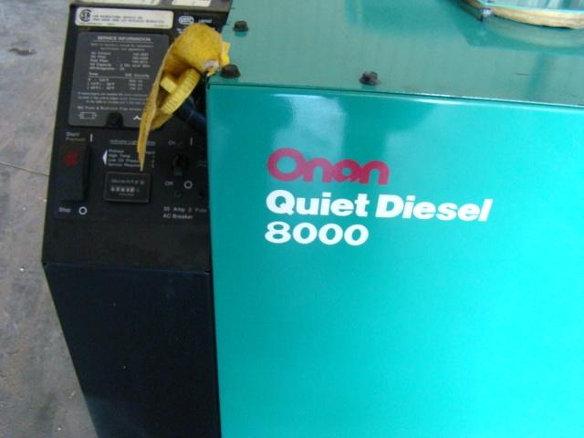 Used RV Parts ONAN 8000 QUITE DIESEL GENERATOR RV MOTORHOME