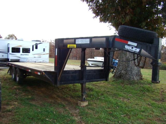 Used RV Parts 1998 Gooseneck 20 FT Equipment Trailer For ...