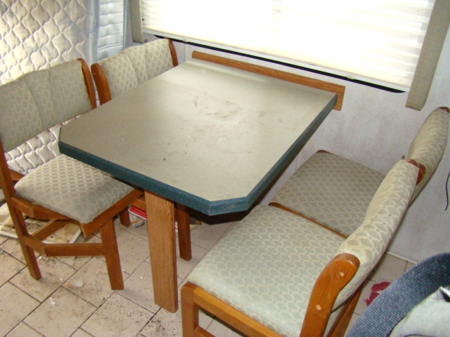 USED RV FURNITURE FOR SALE DINING TABLE AND 4 CHAIRS MONACO / HOLIDAY  RAMBLER PARTS