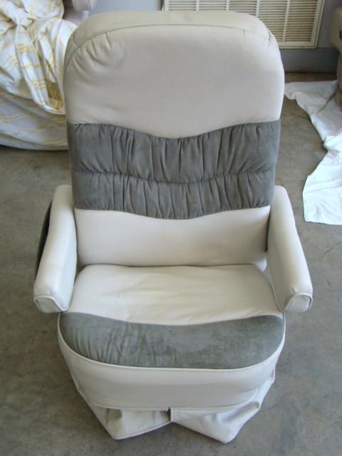 used rv parts flexsteel motorhome furniture for sale passenger side leather captain chair used. Black Bedroom Furniture Sets. Home Design Ideas