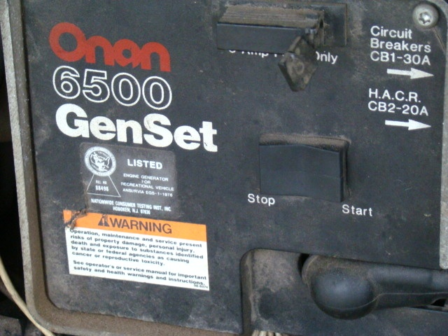 used rv parts onan 6500 emerald plus gen set generator for sale used rh usedrvparts visonerv com Onan 6500 Generator Wiring Diagram Onan 6500 Generator Home Set Recoil