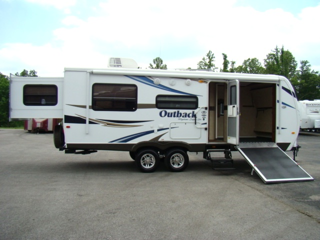 2011 OUTBACK 230RS BUNKHOUSE REAR SLIDE TRAVEL TRAILER TOY HAULER FOR SALE Used RV Parts