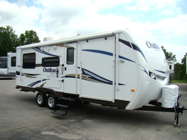 Used Rv Parts 2011 Outback 230rs Bunkhouse Rear Slide Travel Trailer Toy Hauler For Sale Rvs