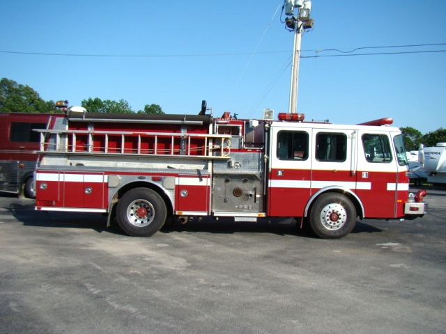 Trucks For Sale In Md >> Used RV Parts 1998 E-ONE FIRE TRUCK PUMPER WITH FOAM SYSTEM FOR SALE Work Trucks-Fire Trucks ...