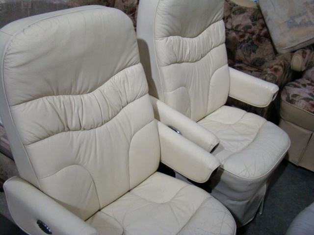 Used Flex Steel Captain Chairs White Used RV Parts